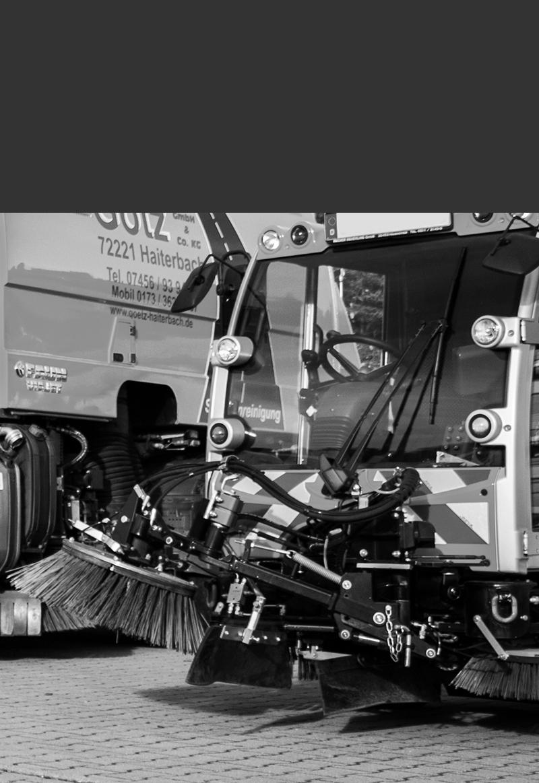 Kleinkehrmaschine der Firma Götz