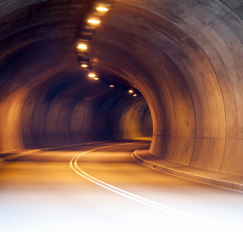 Tunnel ganz ohne Autos