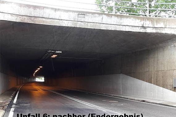 Sauberer Tunnel nach der Reinigung