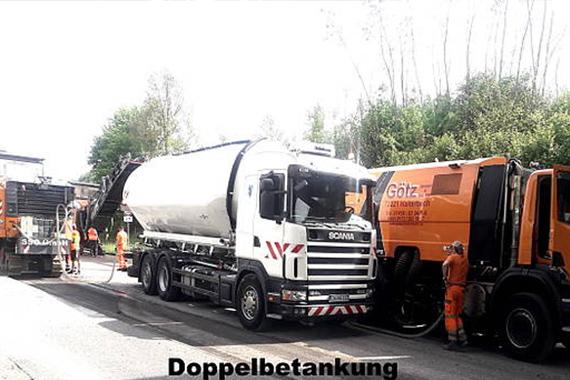Doppelbetankung für Baustellenfahrzeuge