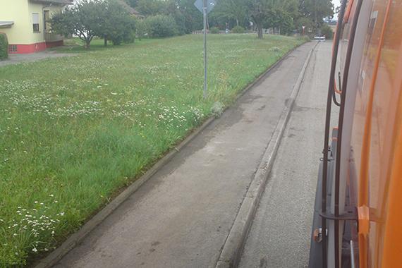 gereinigter Radweg
